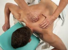 Massage on upper back